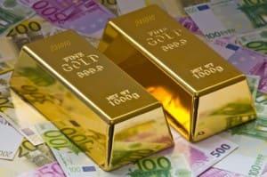Goldbarren-und-Geld